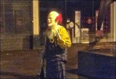 GARFIELD COUNTY, Colo. - He hasn't been sent to us by Judy Collins, but a mysterious creepy clown has been spotted all over Garfield County standing on street corners and freaking people out.