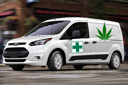 It's a marijuana lovers paradise! No knock on the door, no tipping…because it's a driverless car that has delivered your pot.